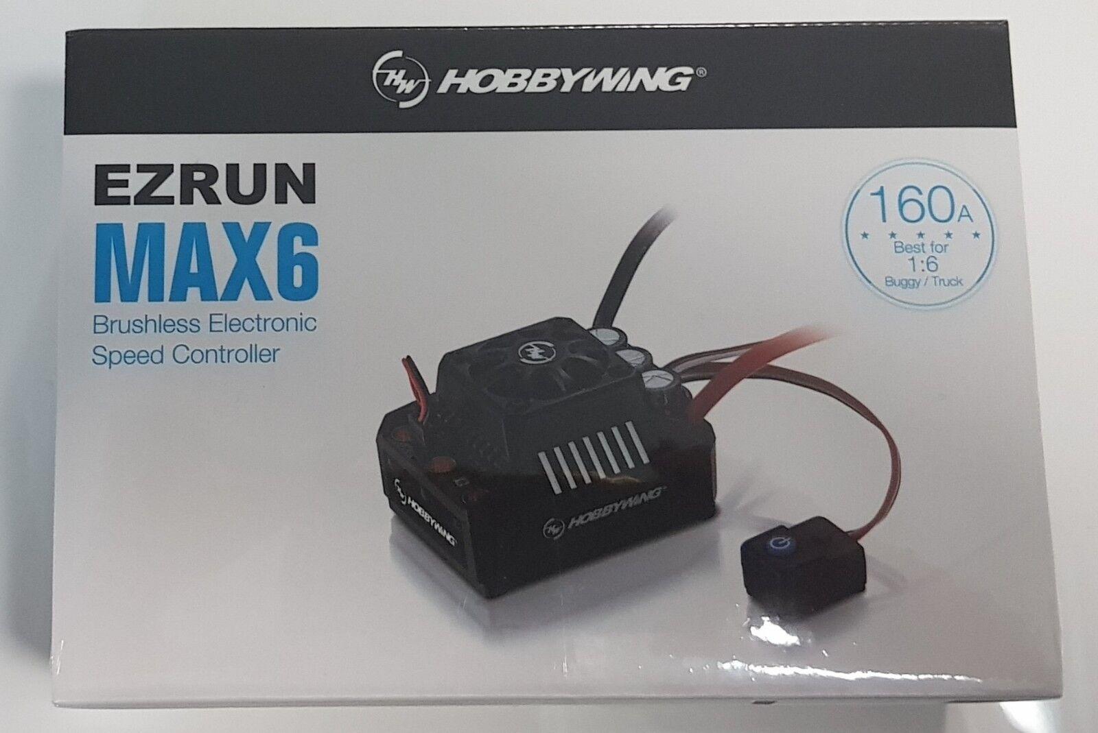 HOBBYWING XERUN 160A MAX6 Sensorless 1 8TH 1 5TH Esc 8S GENUINE Producto Sellado