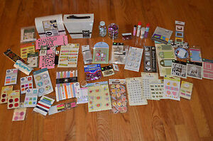 Lot Of  Embellishments Scrap Book New In Package Sticker Adhesive Accessories