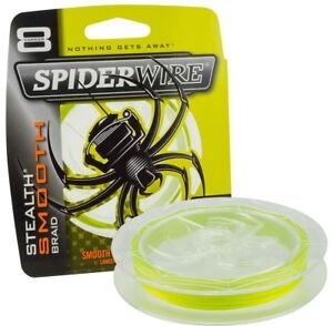 SpiderWire-Stealth-Smooth-8-Yellow-0-25-mm-3000-m-geflochtene-Angelschnur