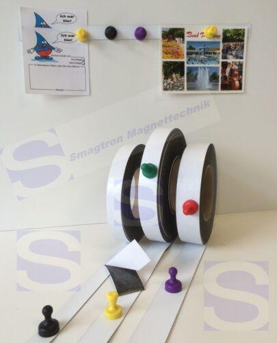 Eisenfolie Magnetfolie Ferroband 0,6mm x 30mm x Meterware Eisenband