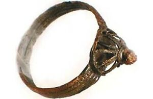 Medieval-Roman-Byzantine-Constantinople-Istanbul-Intricate-Crown-Ring-AD900-Sz8
