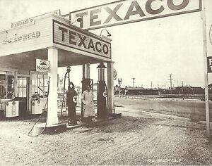 Details about SEAL BEACH Lawhead TEXACO GAS STATION Photo Print 1613 11