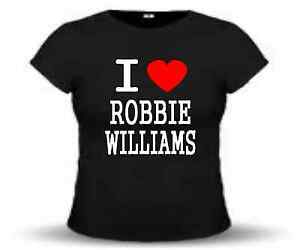 T-SHIRT-coupe-cintree-I-LOVE-ROBBIE-WILLIAMS-taille-de-XS-a-L-femme-neuf