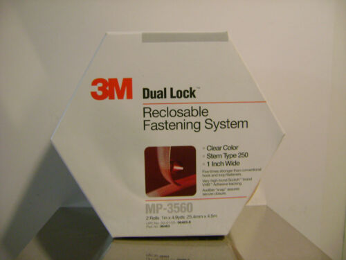 3M DUAL LOCK RECLOSABLE FASTENING TAPE CLEAR MP-3560