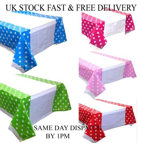 Polka Dot Sky Polka Dot Plastic Table Cover Disposable Party Tablecloth CoversUK