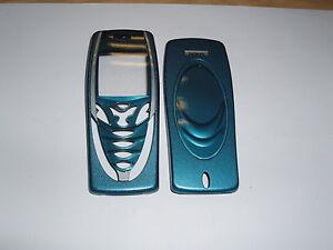 Original-Nokia-7210-Avant-amp-Dos-Face-Couvercle-Boitier-Bleu-GRD-B