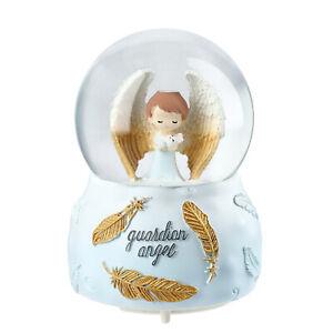 Home-Decor-Table-Top-Decoration-Christmas-Gift-Musical-Snow-Globe-Guardian-Angel