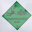 Diver Compressed Gas Sticker Rib. Scuba Diving Car Tank Cylinder