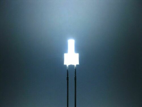 20 x LED 2mm-Tower-LED Cold White 3,3v diffuse-Long Head