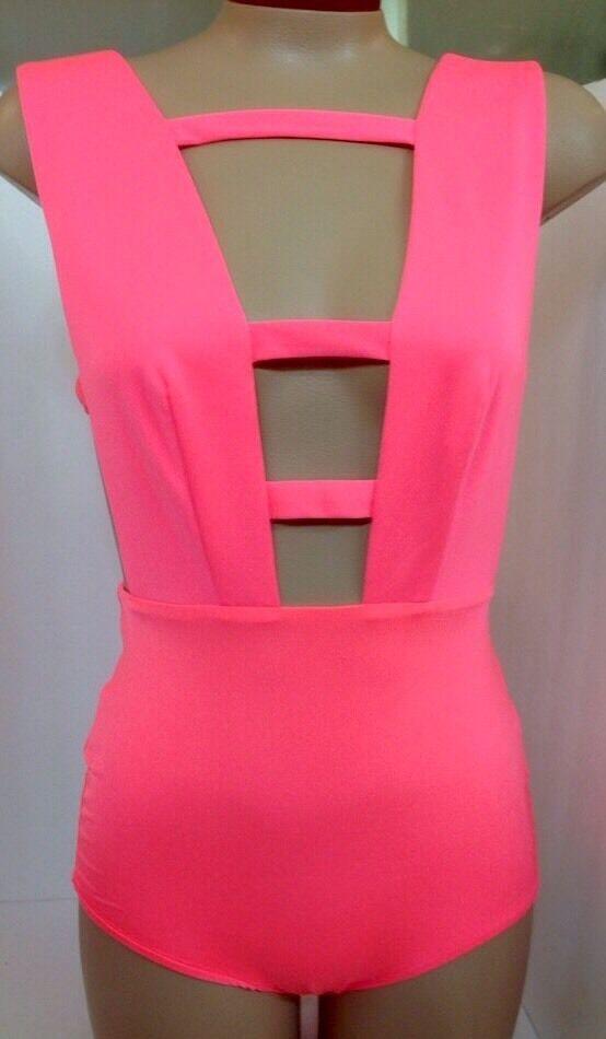 AQ AQ Bodysuit  Acid Pink One piece With Zipper NWT SIZE 2