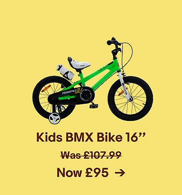 Kids BMX Bike 16'' Was £107.99. Now £95.