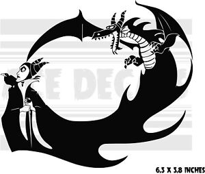 Details About Maleficent Dragon Sleeping Beauty Car Laptop Vinyl Decal Sticker