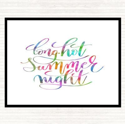Lunga Notte Calda Estate Arcobaleno Preventivo Tavola Tovaglietta Americana-