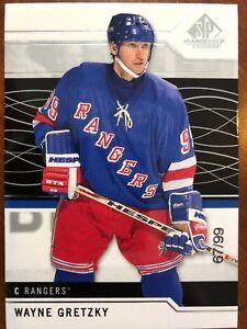 18-19 UD SP Game Used Jersey Number SSP #100 Wayne Gretzky   eBay