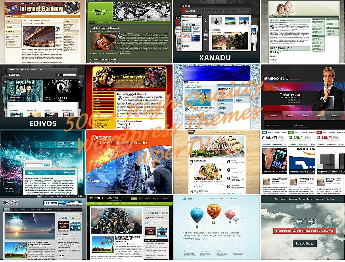 MEGA 500+ Premium Wordpress WebSite Themes Templates - With Resell Rights 2