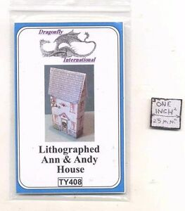 Kit Ann and Andy House TY408 dollhouse furniture kit Dragonfly 1//12 scale wood