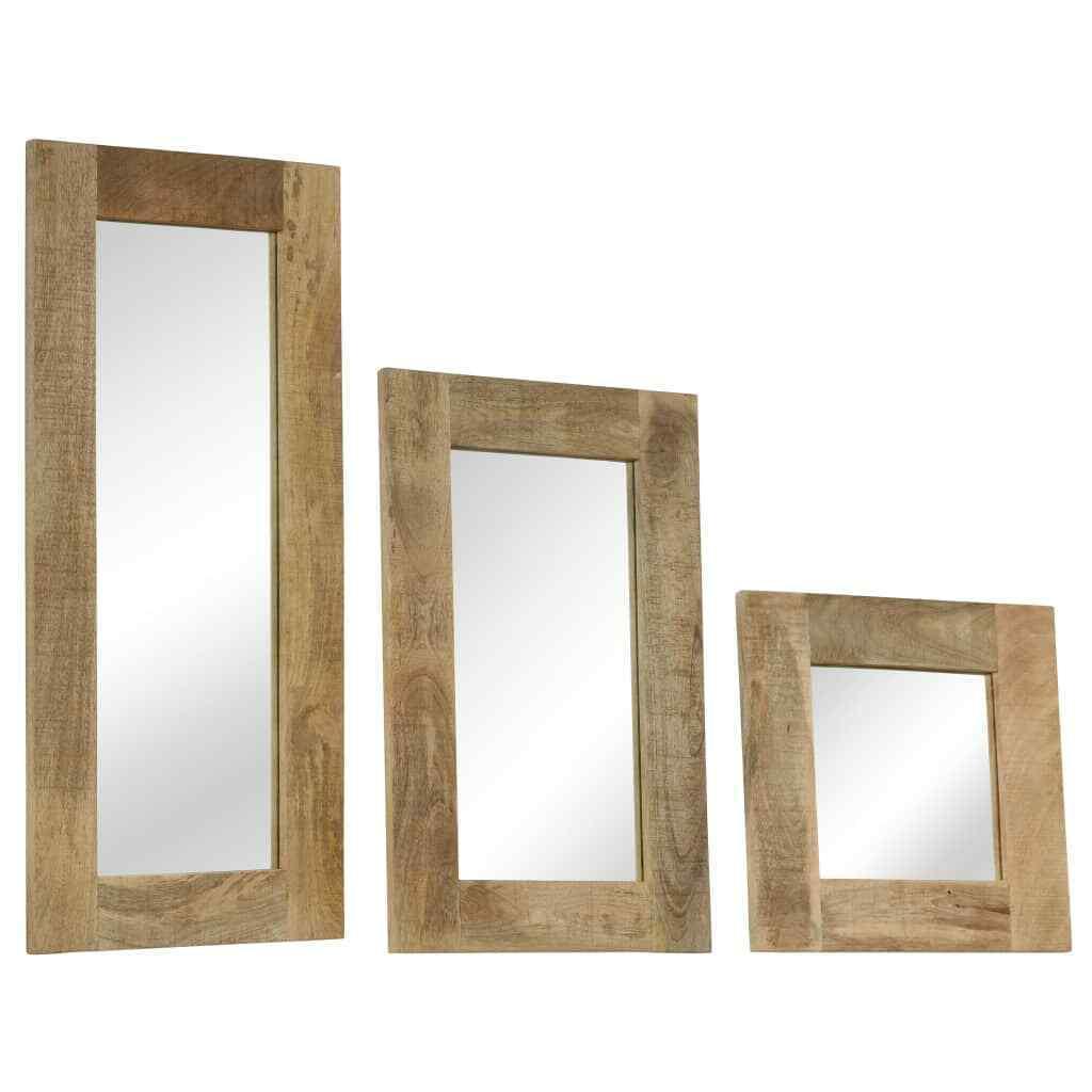 VidaXL Mangoholz Massiv Spiegel Wandspiegel Badspiegel Flur 50x50 80 110cm