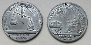 Sachsen-Zinnmedaille-1772-auf-das-erste-Zinnmedaille-vierte-Viertel-des-Jahre