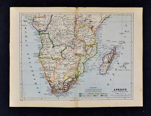1885 Cortambert Map   South Africa Cape Colony Congo Zambia German