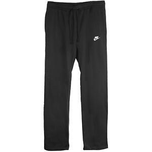 new selection shop for newest wholesale price Details about Nike Club Open Hem Fleece Pants Mens 804395-010 Black  Sweatpants Size XL