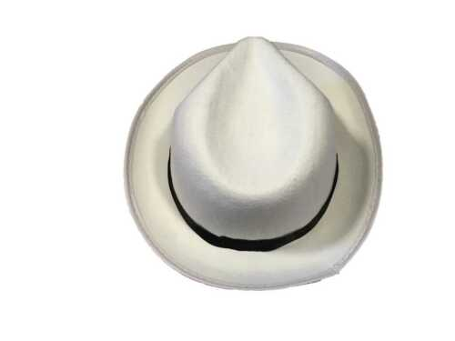 6 x adulto bianco al Capone Gangster Cappello ADDIO AL CELIBATO nubilato notte Michael Jackson Borsalino Q24