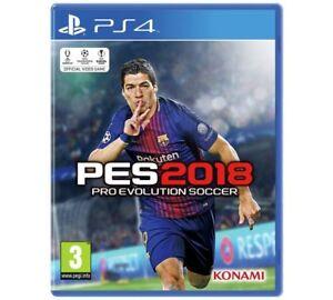 Pes 2018 Ps4 Pro Evo Soccer Juego Para Sony Playstation 4 Nuevo