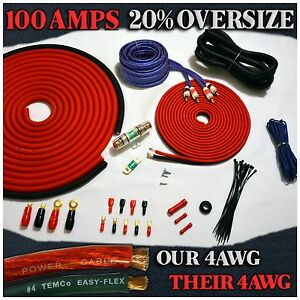 3000w heavy duty 4 gauge amp kit complete amplifier cable wiring image is loading 3000w heavy duty 4 gauge amp kit complete greentooth Choice Image