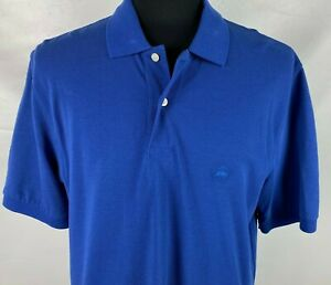 Brooks-Brothers-Performance-Polo-Shirt-Size-Large-Blue-Pique-Cotton-Pre-Owned