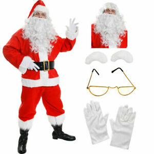 ADULTS-10-PIECE-SANTA-CLAUS-SUIT-FATHER-CHRISTMAS-COSTUME-XMAS-MENS-FANCY-DRESS