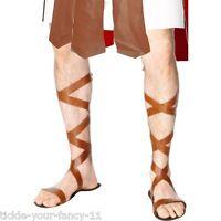 Mens Womens Roman Sandals Ancient Greek Rome Spartacus Gladiator Fancy Dress Fun