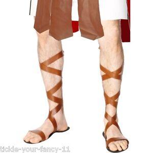 Para Hombre Para Mujer Romana Sandalias Griego Antiguo Roma Espartaco Gladiador Fancy Dress Divertido