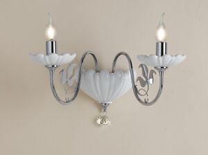 Applique lampada sopra specchio bagno metallo oro diffusori vetro