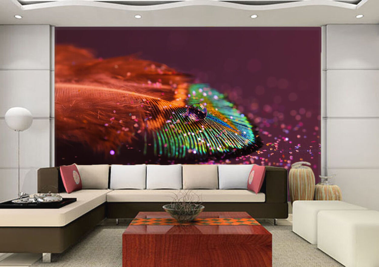3D Farbe Feather Painting 777 Wall Paper Wall Print Decal Wall AJ WALLPAPER CA