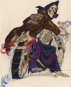 Discworld Hogfather counted cross stitch kit//chart 14s aida
