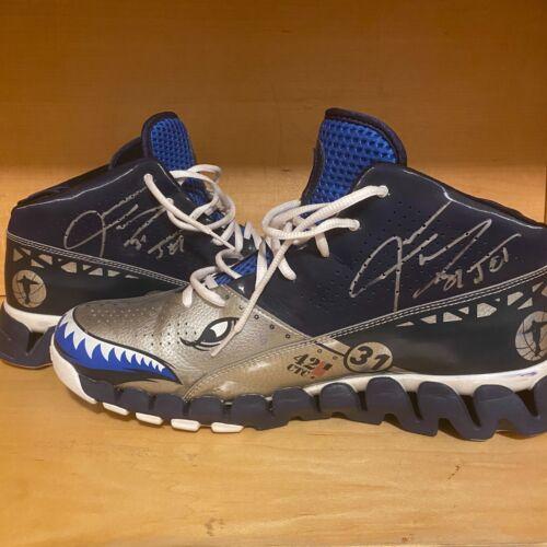 Jason Terry Autographed Game-Worn Reebok PE Shoes