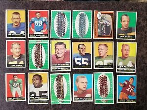 1961-Topps-Football-18-132-Partial-Set-24-cards-Paul-Hornung-Max-McGee