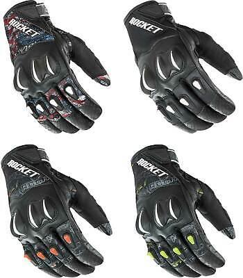 Joe Rocket Cyntek Leather Mesh Armored Riding Racing Summer Street Bike Gloves