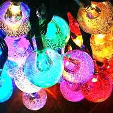 60LED 36FT 4Color Crystal Ball Solar String lights for Garden, Patio, Yard, .