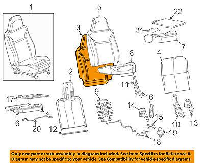 GM OEM Front Seat-Back Cushion Foam Pad Left 19330726