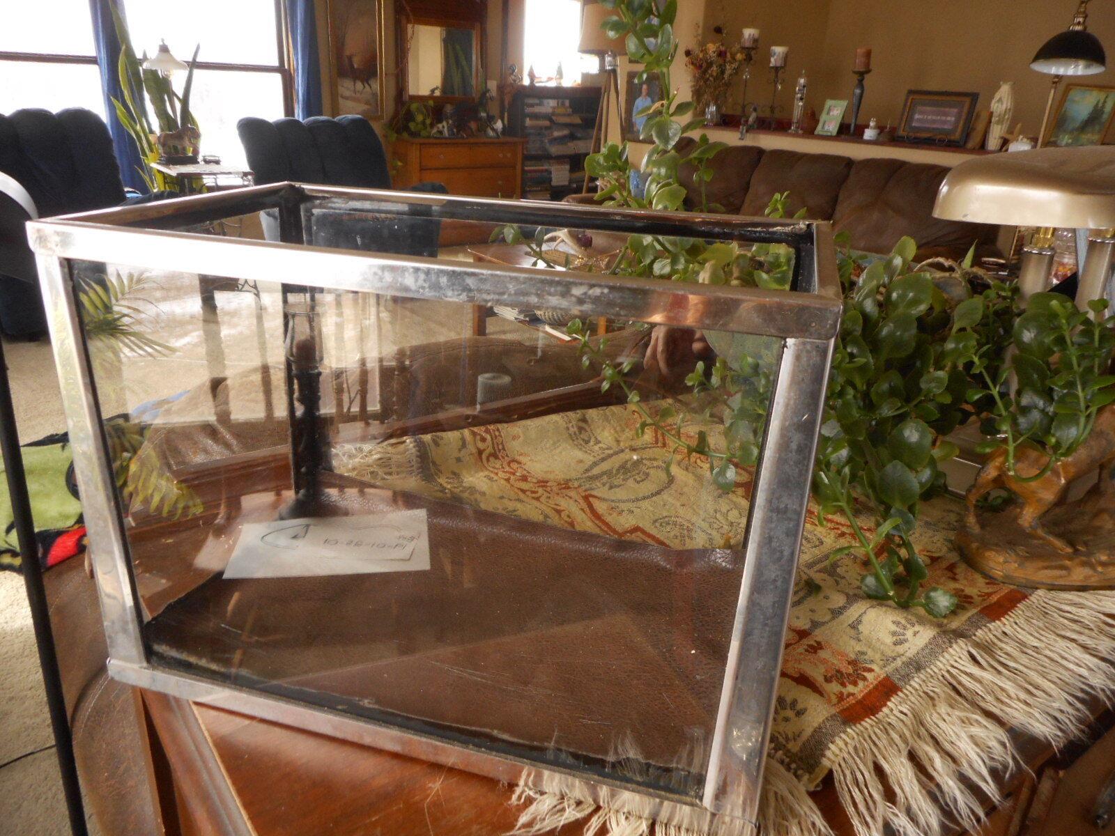 Aquarium Fish Tank Vintage Stainless Steel Reptile Terrarium Terrarium Terrarium Small Flea Market 73e0b2