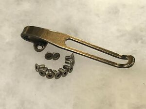 Gold Titanium Deep Pocket Clip /& Screws Set For Benchmade Bugout 535 Bailout 537