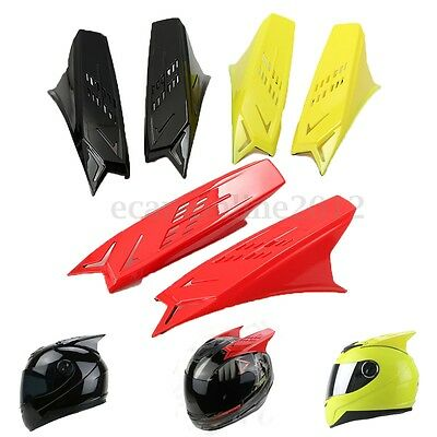 Men's Motorcycle Helmet Horns Decor Accessories Yellow/Red/Black w/ Scotch Tapes