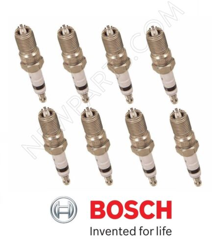 For Buick Ford GMC Lincoln Pontiac Set of 8 Spark Plugs Bosch Platinum+4 4458