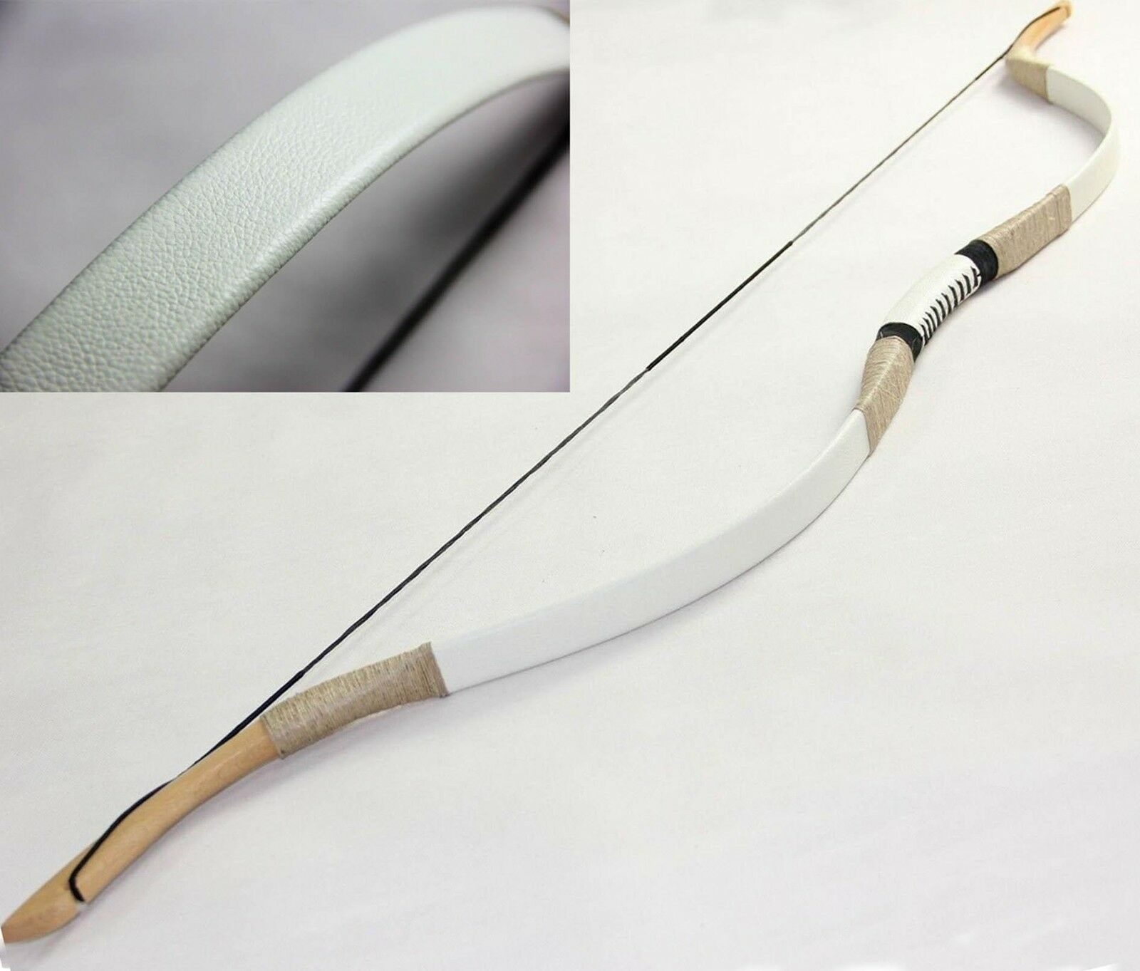 New 45 lbs Handmade Traditional Recurve Bow White Mongol Longbow Hunting Archery