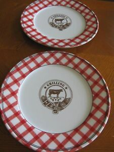 Image is loading 2-Williams-Sonoma-Melamine-034-Grilling-034-Red- : checkerboard dinnerware - Pezcame.Com
