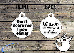 "Halloween DOG ID Collier Tag ""ne pas me faire peur je Pipi"" - Double face Pet Charm Tag-afficher le titre d`origine 6eeGGJkL-07203934-751869423"