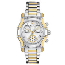 Bulova Women's 98P120 Wintermoor Quartz Two Tone Chronograph Bracelet Watch