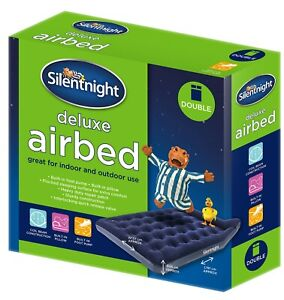 Silentnight Airbed Flock Foot Pump Camping Outdoor Holiday Blow Up Single Double