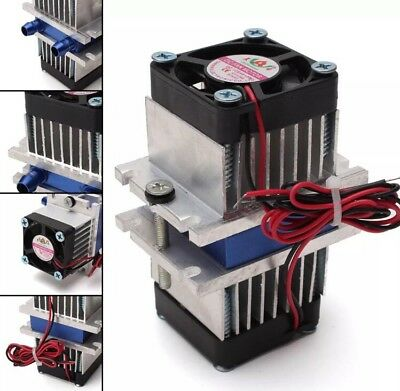 Hell 12v Thermoelectric Tec1-12706 Peltier Water Pipe Cooling System Diy Kit 8mm Pipe