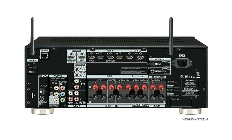 Pioneer, VSX-930-K, 7.1 kanaler